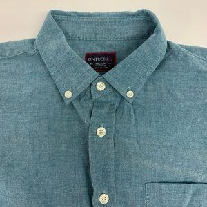 Untuckit Green Needle-head Long Sleeve Shirt Sz M